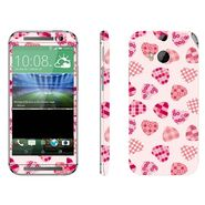 Snooky 41418 Digital Print Mobile Skin Sticker For HTC One M8 - White