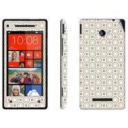 Snooky 41425 Digital Print Mobile Skin Sticker For HTC 8X C620E - Brown