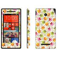 Snooky 41426 Digital Print Mobile Skin Sticker For HTC 8X C620E - White