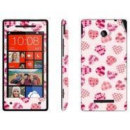 Snooky 41432 Digital Print Mobile Skin Sticker For HTC 8X C620E - White