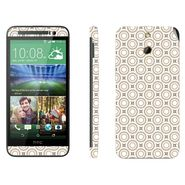 Snooky 41467 Digital Print Mobile Skin Sticker For HTC One E8 - Brown