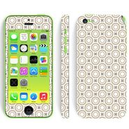 Snooky 41523 Digital Print Mobile Skin Sticker For Apple Iphone 5C - Brown