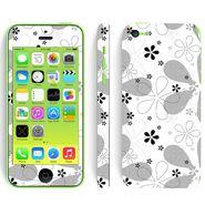 Snooky 41534 Digital Print Mobile Skin Sticker For Apple Iphone 5C - White