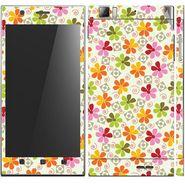 Snooky 41622 Digital Print Mobile Skin Sticker For Lenovo K900 - White