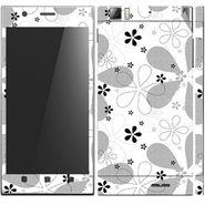 Snooky 41632 Digital Print Mobile Skin Sticker For Lenovo K900 - White