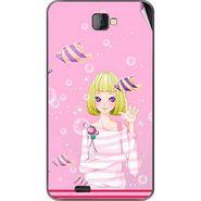 Snooky 41670 Digital Print Mobile Skin Sticker For Lava Iris 502 - Pink