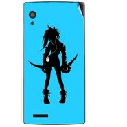 Snooky 41712 Digital Print Mobile Skin Sticker For Lava Iris Fuel 60 - Blue