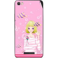 Snooky 41730 Digital Print Mobile Skin Sticker For Lava Iris X8 - Pink