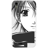 Snooky 41773 Digital Print Mobile Skin Sticker For Lava Iris 405Plus - Grey