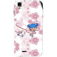 Snooky 41775 Digital Print Mobile Skin Sticker For Lava Iris 405Plus - White