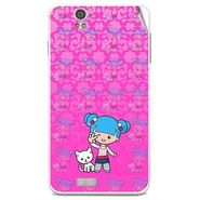 Snooky 41810 Digital Print Mobile Skin Sticker For Lava Iris X5 - Pink