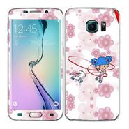 Snooky 41869 Digital Print Mobile Skin Sticker For Samsung Galaxy S6 Edge - White