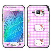 Snooky 41887 Digital Print Mobile Skin Sticker For Samsung Galaxy J1 - Pink