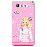 Snooky 41894 Digital Print Mobile Skin Sticker For Intex Aqua 3G - Pink