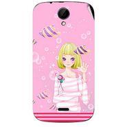 Snooky 41971 Digital Print Mobile Skin Sticker For Intex Aqua i3 - Pink