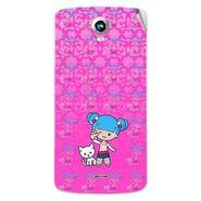 Snooky 42011 Digital Print Mobile Skin Sticker For Intex Aqua i6 - Pink