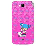 Snooky 42033 Digital Print Mobile Skin Sticker For Intex Aqua i15 - Pink