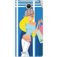 Snooky 42091 Digital Print Mobile Skin Sticker For Intex Aqua N17 - Blue