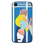 Snooky 42157 Digital Print Mobile Skin Sticker For Intex Aqua Speed - Blue