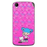 Snooky 42165 Digital Print Mobile Skin Sticker For Intex Aqua Speed - Pink