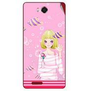 Snooky 42180 Digital Print Mobile Skin Sticker For Intex Aqua Star Hd - Pink