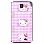 Snooky 42272 Digital Print Mobile Skin Sticker For Intex Aqua Y2 IPS - Pink