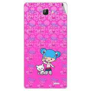 Snooky 42319 Digital Print Mobile Skin Sticker For Intex Aqua I5 HD - Pink
