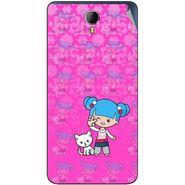 Snooky 42341 Digital Print Mobile Skin Sticker For Intex Aqua Star 2 - Pink
