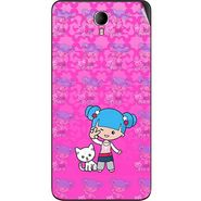Snooky 42352 Digital Print Mobile Skin Sticker For Intex Cloud M6 - Pink