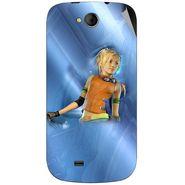 Snooky 46172 Digital Print Mobile Skin Sticker For Micromax Canvas Elanza A93 - Blue