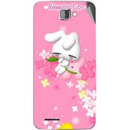 Snooky 46201 Digital Print Mobile Skin Sticker For Micromax Canvas Mad A94 - Pink