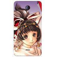 Snooky 46422 Digital Print Mobile Skin Sticker For Micromax Unite 2 A106 - Multicolour