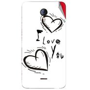 Snooky 46437 Digital Print Mobile Skin Sticker For Micromax Unite 2 A106 - White