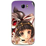Snooky 46486 Digital Print Mobile Skin Sticker For Micromax Canvas 2 A110 - Multicolour