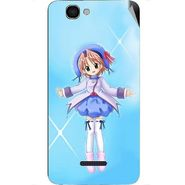 Snooky 46631 Digital Print Mobile Skin Sticker For Micromax Canvas 2 A120 - Blue