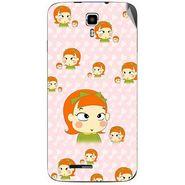 Snooky 46707 Digital Print Mobile Skin Sticker For Micromax Canvas Juice A177 - Orange