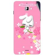 Snooky 46873 Digital Print Mobile Skin Sticker For Micromax Canvas Nitro A310 - Pink