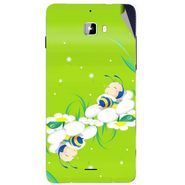 Snooky 46875 Digital Print Mobile Skin Sticker For Micromax Canvas Nitro A310 - Green