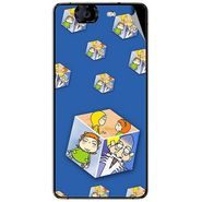 Snooky 46960 Digital Print Mobile Skin Sticker For Micromax Canvas Knight A350 - Blue