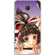 Snooky 47062 Digital Print Mobile Skin Sticker For Micromax Canvas Spark Q380 - Multicolour