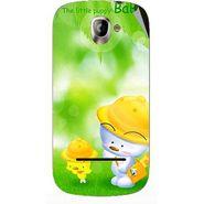 Snooky 47129 Digital Print Mobile Skin Sticker For Xolo A500 - Green