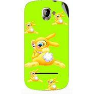 Snooky 47138 Digital Print Mobile Skin Sticker For Xolo A500 - Green