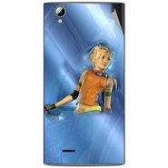 Snooky 47323 Digital Print Mobile Skin Sticker For Xolo A600 - Blue