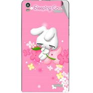 Snooky 47352 Digital Print Mobile Skin Sticker For Xolo A1000S - Pink