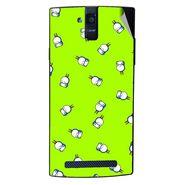 Snooky 47905 Digital Print Mobile Skin Sticker For Xolo Q2000 - Green