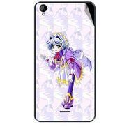 Snooky 47946 Digital Print Mobile Skin Sticker For Xolo Q2000L - Purple