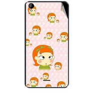 Snooky 47954 Digital Print Mobile Skin Sticker For Xolo Q2000L - Orange