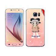 Snooky 48230 Digital Print Mobile Skin Sticker For Samsung Galaxy S6 - Orange