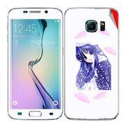Snooky 48269 Digital Print Mobile Skin Sticker For Samsung Galaxy S6 Edge - White