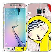Snooky 48271 Digital Print Mobile Skin Sticker For Samsung Galaxy S6 Edge - Multicolour